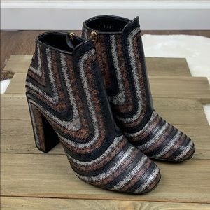 Salvatore Ferragamo NWOT ZigZag Leather Ankle Boot